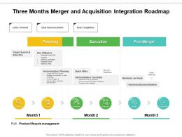 Three Months Merger And Acquisition Integration Roadmap