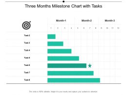 Three Months Milestone Chart With Tasks