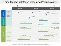 Three Months Millstones Upcoming Products And Family Portfolio Timeline