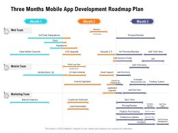 Three Months Mobile App Development Roadmap Plan