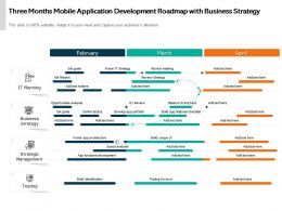 Three Months Mobile Application Development Roadmap With Business Strategy