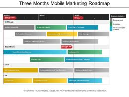 Three Months Mobile Marketing Roadmap