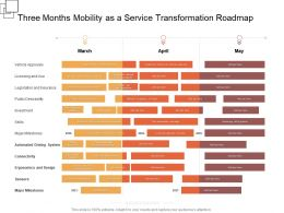 Three Months Mobility As A Service Transformation Roadmap