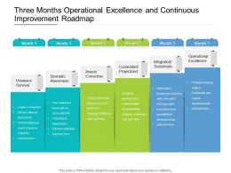 Three Months Operational Excellence And Continuous Improvement Roadmap