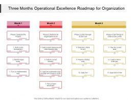 Three Months Operational Excellence Roadmap For Organization