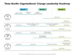 Three Months Organizational Change Leadership Roadmap