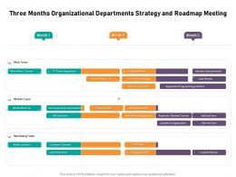 Three Months Organizational Departments Strategy And Roadmap Meeting