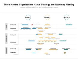 Three Months Organizations Cloud Strategy And Roadmap Meeting