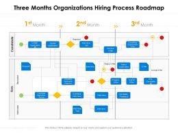 Three Months Organizations Hiring Process Roadmap