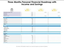 Three Months Personal Financial Roadmap With Income And Savings