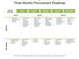 Three Months Procurement Roadmap