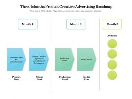 Three Months Product Creative Advertising Roadmap