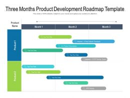 Three Months Product Development Roadmap Template