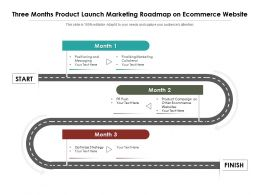 Three Months Product Launch Marketing Roadmap On Ecommerce Website