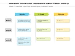 Three Months Product Launch On Ecommerce Platform By Teams Roadmap
