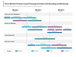 Three Months Product Launch Planning Activities With Branding And Marketing