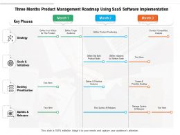 Three Months Product Management Roadmap Using SaaS Software Implementation