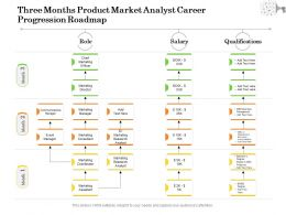 Three Months Product Market Analyst Career Progression Roadmap