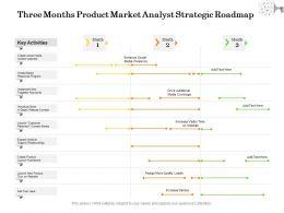 Three Months Product Market Analyst Strategic Roadmap