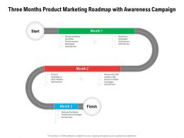 Three Months Product Marketing Roadmap With Awareness Campaign