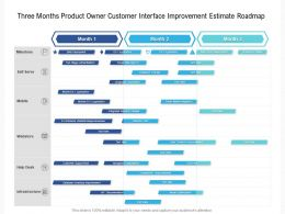 Three Months Product Owner Customer Interface Improvement Estimate Roadmap