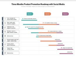 Three Months Product Promotion Roadmap With Social Media