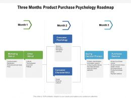 Three Months Product Purchase Psychology Roadmap