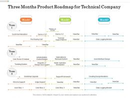 Three Months Product Roadmap For Technical Company