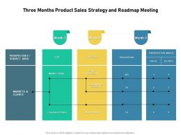 Three Months Product Sales Strategy And Roadmap Meeting