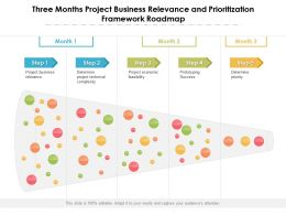 Three Months Project Business Relevance And Prioritization Framework Roadmap
