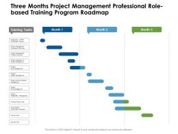 Three Months Project Management Professional Role Based Training Program Roadmap