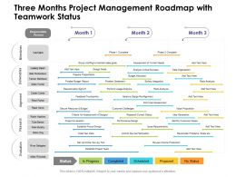 Three Months Project Management Roadmap With Teamwork Status