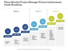 Three Months Project Manager Future Achievement Guide Roadmap