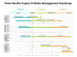 Three Months Project Portfolio Management Roadmap