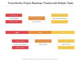Three Months Project Roadmap Timeline With Multiple Tasks
