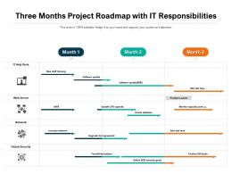 Three Months Project Roadmap With IT Responsibilities