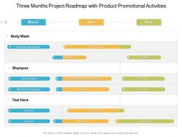 Three Months Project Roadmap With Product Promotional Activities