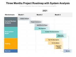 Three Months Project Roadmap With System Analysis