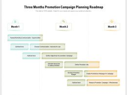 Three Months Promotion Campaign Planning Roadmap