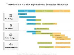 Three Months Quality Improvement Strategies Roadmap