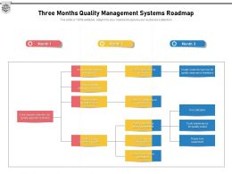 Three Months Quality Management Systems Roadmap
