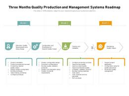 Three Months Quality Production And Management Systems Roadmap