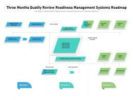 Three Months Quality Review Readiness Management Systems Roadmap