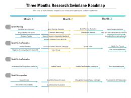 Three Months Research Swimlane Roadmap