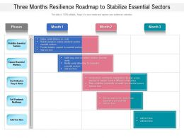 Three Months Resilience Roadmap To Stabilize Essential Sectors