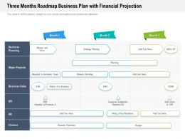 Three Months Roadmap Business Plan With Financial Projection