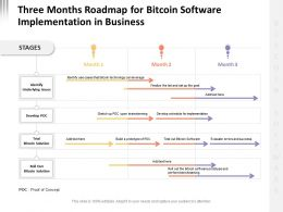 Three Months Roadmap For Bitcoin Software Implementation In Business