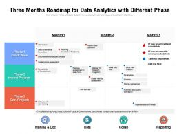 Three Months Roadmap For Data Analytics With Different Phase