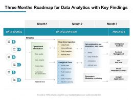 Three Months Roadmap For Data Analytics With Key Findings