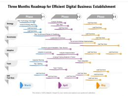 Three Months Roadmap For Efficient Digital Business Establishment